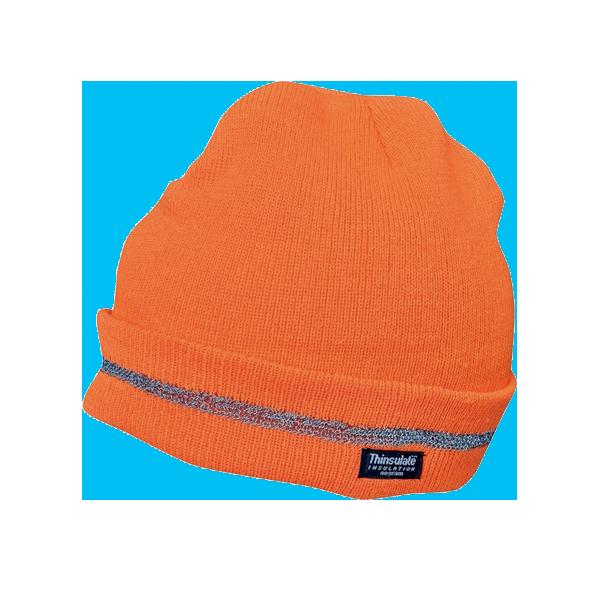 caciula-tricotata-turia-portocaliu
