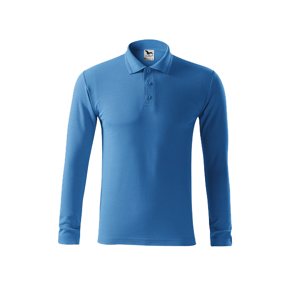 tricou-polo-maneca-lunga-pique-albastru-deschis