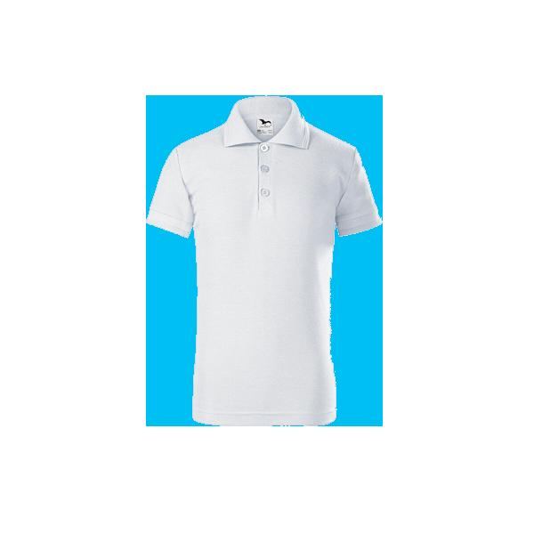 tricou-polo-maneca-scurta-copii-pique-alb