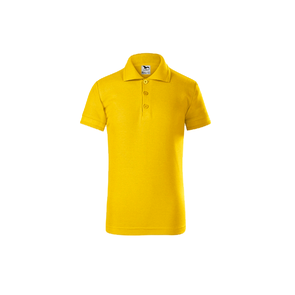 tricou-polo-maneca-scurta-copii-pique-galben