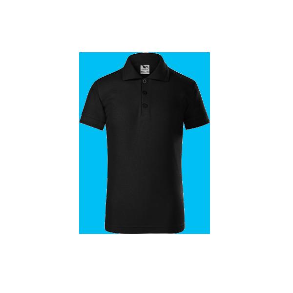 tricou-polo-maneca-scurta-copii-pique-negru