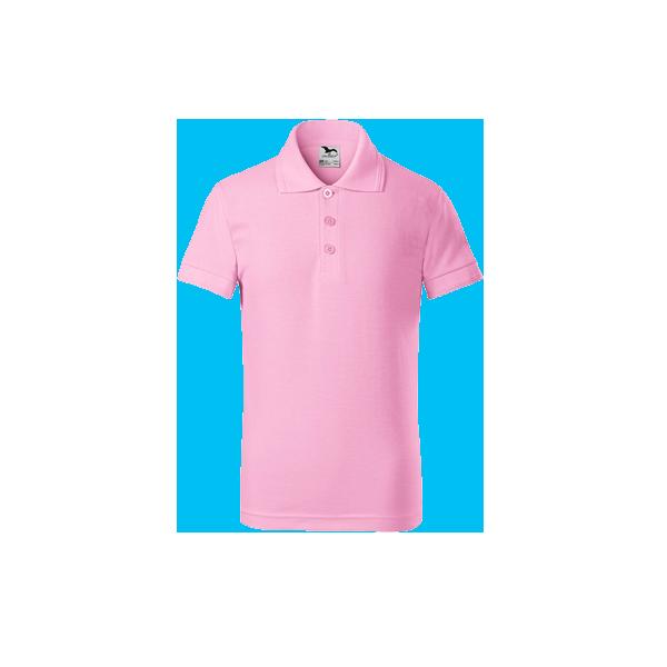 tricou-polo-maneca-scurta-copii-pique-roz-pal