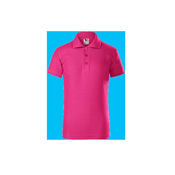 tricou-polo-maneca-scurta-copii-pique-roz