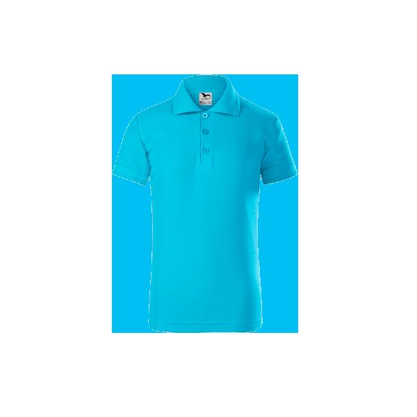 tricou-polo-maneca-scurta-copii-pique-turcoaz