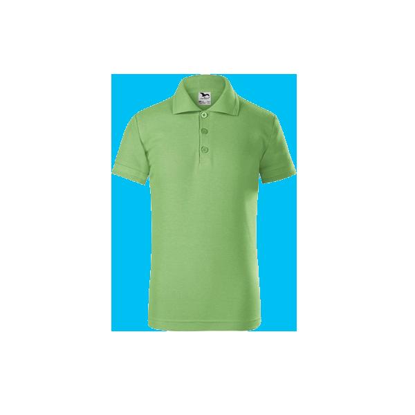 tricou-polo-maneca-scurta-copii-pique-verde-deschis
