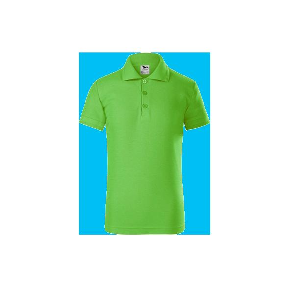tricou-polo-maneca-scurta-copii-pique-verde-inchis